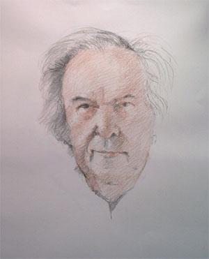 Dessin de l'autoportrait d'Adolphe COSTENOBLE