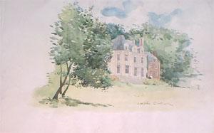 Chateau de la Calotterie en aquarelle