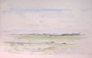Chenal breton en aquarelle