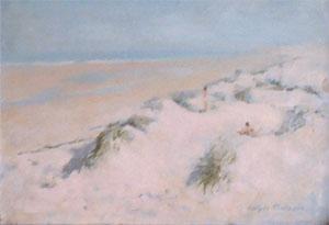 Peinture à l'huile d'une dune