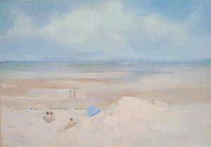 Peinture à l'huime de la plage