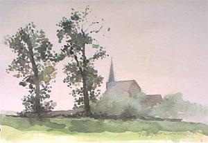 Peinture de l'église de Wemaers Cappel