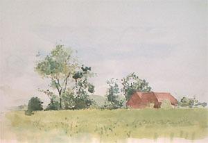 Maison du garde champêtre en aquarelle