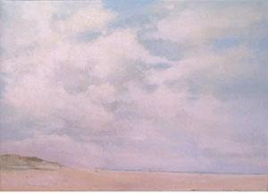Peinture à l'huile d'une plage