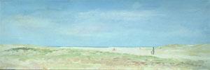 Peinture à l'huime de la plage d'oye