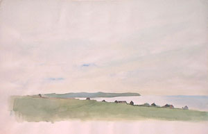 Le Cap Gris Nez en aquarelle