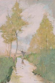 Peinture à l'huile d'un marais