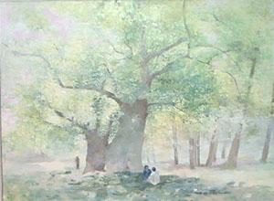 Peinture à l'huile du Pincho à Rome