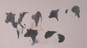 Vaches en aquarelle