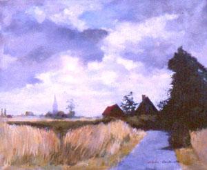 Peinture de la route de Watou à Steenvoorde