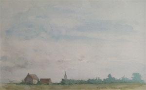 Village de flandre en aquarelle
