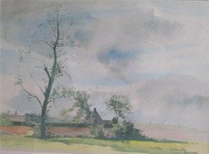 Villages flamand en aquarelle