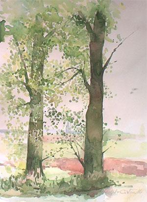 Vue de septentrion en aquarelle