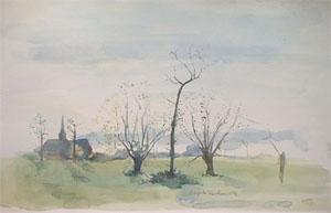 Wemaers au printemps en aquarelle